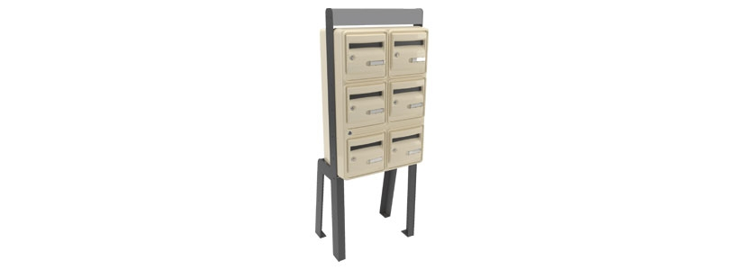 bo tes aux lettres corail collectives groupe cahors. Black Bedroom Furniture Sets. Home Design Ideas