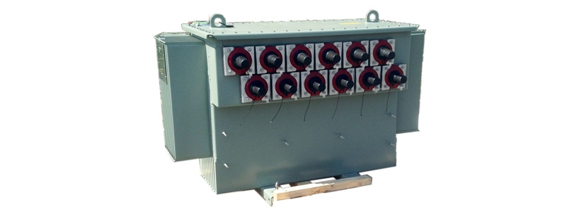 Frequency injection transformer immersed in mineral oil